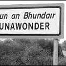 A sign on the Tralee/Dingle road