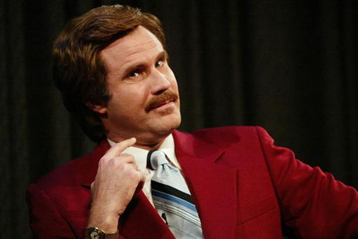Ron Burgundy in a scene from Anchorman
