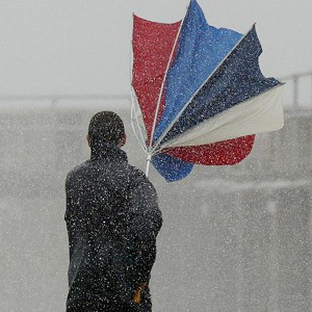 Strong winds and showers have been forecast