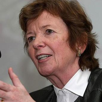 Former president Mary Robinson will discuss the crisis in Mali with other European officials