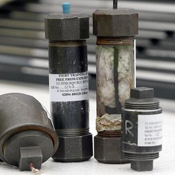 The viable improvised explosive device and its component parts will be handed over to the gardai