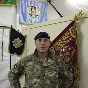 Lieutenant Colonel Jamie Piggott, Commanding Officer of Royal Dragoon Guards who are serving in Afghanistan