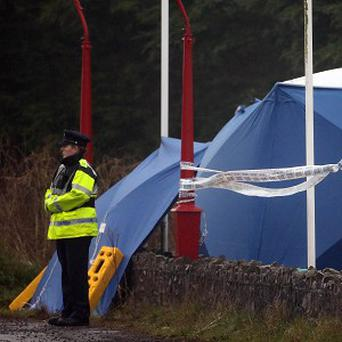 Gardai at the scene where Peter Butterly was killed outside the Huntsman inn in Gormanstown, Co Meath