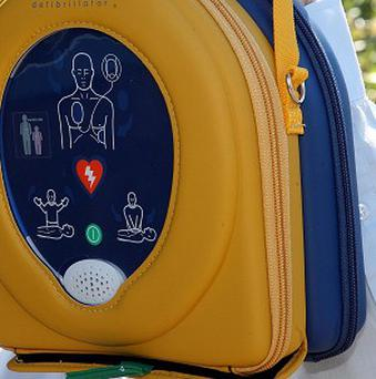 A heart defibrillator has been fitted in a phone box in Crossgar
