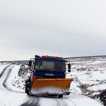 Gritters are on stand-by as a band of snow is set to sweep across the country