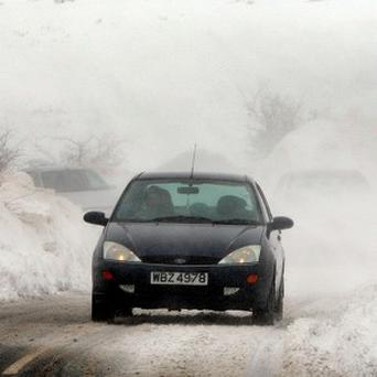 Snow drifts in some areas are as high as 18 feet