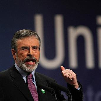Sinn Fein president Gerry Adams said struggling families were sick of the Government's broken promises