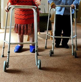 Care home residents in Co Down have been moved over fears a wall could collapse