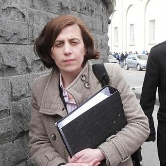 Dr Katherine Astbury outside the inquest into the death of Savita Halappanavar at Galway Coroner's Court