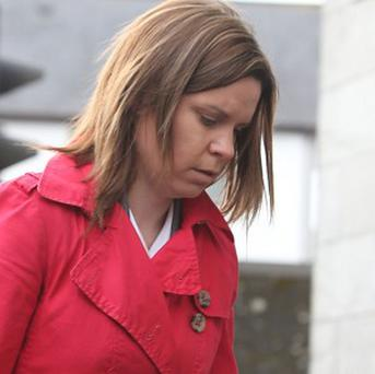 Nurse Noreen Hannegan arrives for the inquest into the death of Savita Halappanavar at Galway Coroner's Court