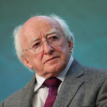 President Michael D Higgins delivered his speech to the European Parliament in Strasbourg