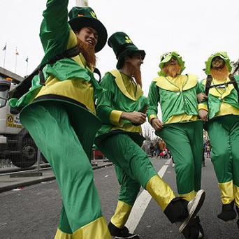 The annual St Patrick's Day parade takes place in Dublin