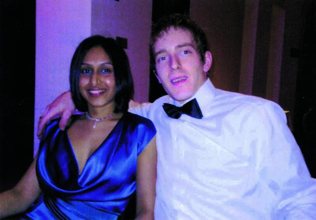 Kevin Kivlehan and his wife Dhara who died eight days after her baby son was born