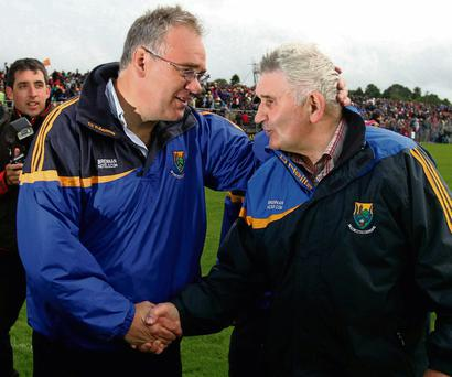Hotelier Brian Brennan with former Wicklow football manager Mick O'Dwyer.