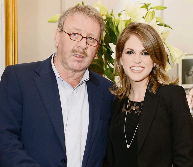 Michael Colgan and Amy Huberman at the opening of 'An Enemy of the People' at the Gate Theatre