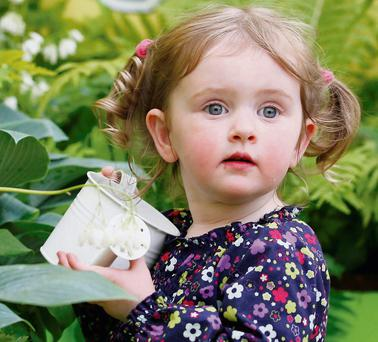 Ciara Maude (2) from Co Tipperary