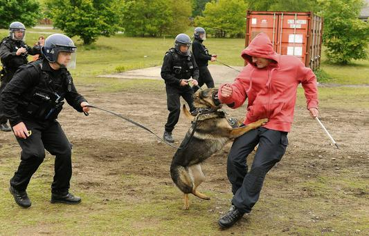 PSNI officers in training ahead of the G8 meeting