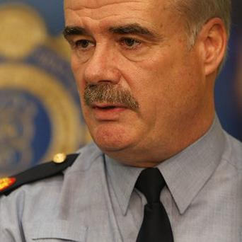 Garda Assistant Commissioner Kieran Kenny speaking to the Media during a G8 briefing