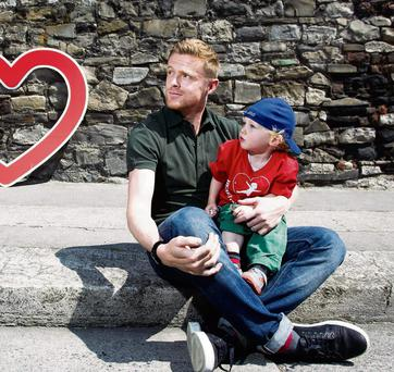 Damien Duff with his son Woody
