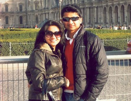 Praveen Halappanavar, pictured here with his late wife Savita, has concerns over her hospital care