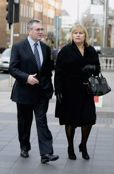 PAC chief John McGuinness and his wife, Margaret, outside Leinster House