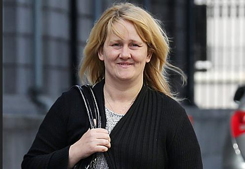Sylvia Deehan, of Maple Avenue, Ballybrack, Dublin, leaving court after she was unsuccessful in her Civil Court action for damages
