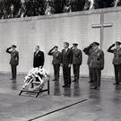 JFK stands to attention at Arbour Hill