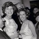 Ryan Tubridy's aunt Dorothy with President Kennedy's sister Ms Eunice Shriver at the Aras an Uachtarain garden party.