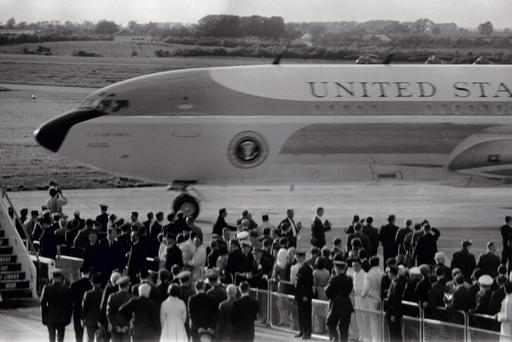 Airforce One touches down