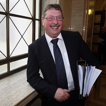 Sammy Wilson said he was concerned that companies were using the Republic of Ireland to pay tax which he alleged should be paid in the UK