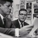 JFK with his speechwriter Ted Sorensen
