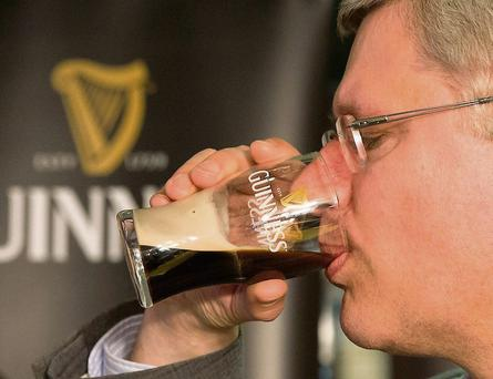 Canadian PM Stephen Harper tweeted this picture of himself drinking Guinness in Dublin