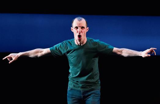 Tom Vaughan-Lawlor in 'Howie the Rookie', written and directed by Mark O'Rowe, at the Project Arts Centre in Dublin