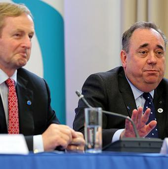 Scottish First Minister Alex Salmond attends the British Irish Council meeting alongside Irish Taoiseach Enda Kenny