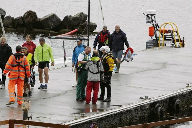 21/6/2013. Story Pat Flynn The scene on Lough Derg last evening after a number of boats got into difficulty during stormy weather conditions. Many of the boats and occupants had to be rescued by the emergency services. Picture Press 22