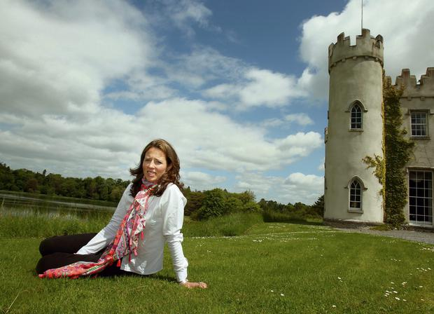 SUPPORT FUND: Alice Nugent outside her home at Ballinlough Castle, Co Westmeath.