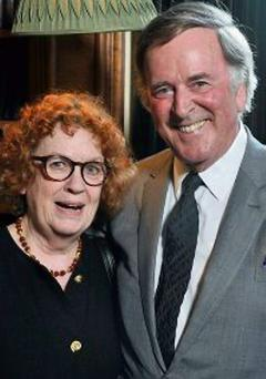 Sir Terry Wogan with Ruth Dudley Edwards, who hosted the evening