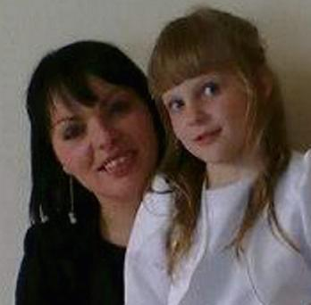 Slain: Jolanta Lubiene and her daughter Enrika