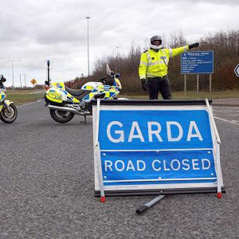A man in his early 50s was found dead after his car caught fire on the M4 near Kinnegad