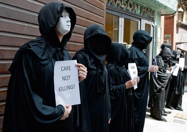 Care Not Killing protesters in London