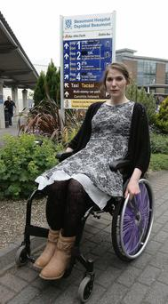 Victoria Gonzalez at Dublin's Beaumont Hospital where she has been for the last two years