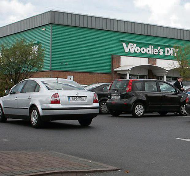 Woodies DIY store in Coolock, Dublin, which was robbed.