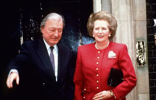 STORM IN A TEAPOT: Margaret Thatcher's political relationship with Charles Haughey soon soured into acrimony