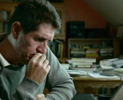 A still from the film featuring Paul Kimmage
