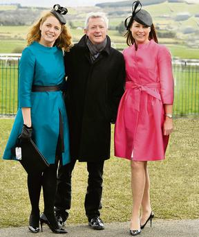 Margaret McDonald (left) with Louis Walsh and Jayne O'Keeffe