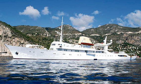 The Christina O, on which Princess Grace had her wedding reception