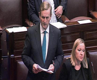 Enda Kenny and Lucinda Creighton in the Dail as the Abortion Bill was voted on