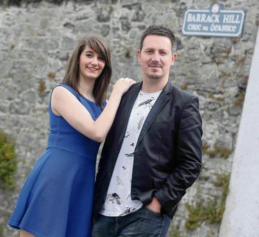 Composer Adam Howell and Sarah Ayrton, who plays Angela, of 'Angela's Ashes'.