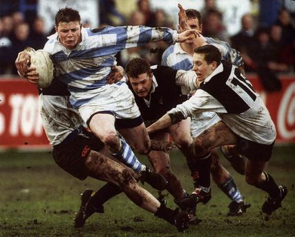 Brian O'Driscoll in action for Blackrock College