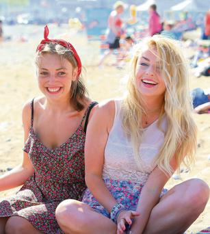 Ashlin Reddy and Grace Hanrahan on Tramore Beach, Co Waterford